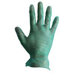 Jangro Green Disposable Vinyl Gloves Powder Free Size Large
