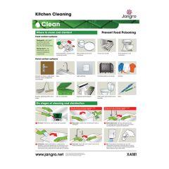 Jangro Kitchen Cleaning A3 Wall Chart