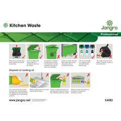 Jangro Kitchen Waste A4 Wall Chart