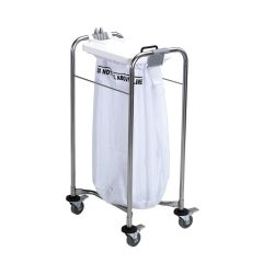 Jangro Laundry Cart With 1 White Bag & Lid