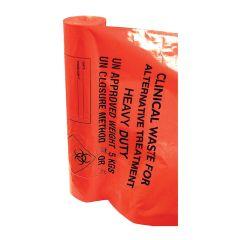 "Jangro Orange Sacks Heavy Duty 15""x28""x39"" 90ltr (4 rolls of 25 bags)"