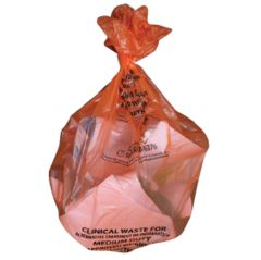 "Jangro Orange Sacks Medium Duty 15""x28""x39"" 90ltr (10 rolls of 50 bags)"