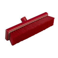Jangro Red Hygiene Flat Soft Sweeping Broom 30cm