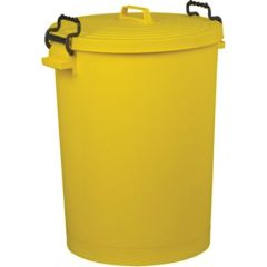 Jangro Yellow Food Grade Dustbin 110ltr