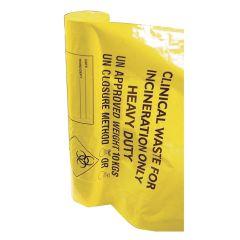 "Jangro Yellow Sacks Heavy Duty 11""x17""x26"" 20ltr (8 rolls of 25 bags)"
