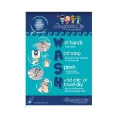 Jangronaut Global Hand Wash ChartA4 Poster