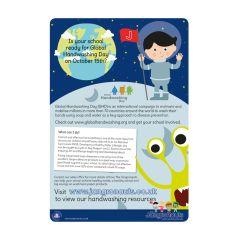 Jangronaut Global Handwashing Day A3 Poster