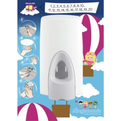 Jangronauts Jess Girls Hand Wash Dispenser Back Board
