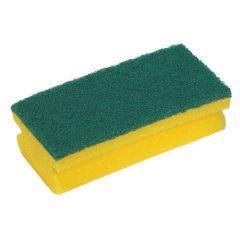 Jangro Yellow/Green Abrasive Sponge Scouring Pad