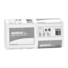 Katrin Plus White Narrow One Stop Hand Towels 3ply