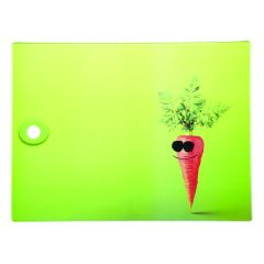 Funky Carrot Glass Worktop Protector