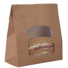 Kraft Effect Laminated Sandwich Bag 155x72x220mm (250)