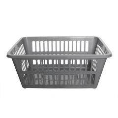 Silver Laundry Basket
