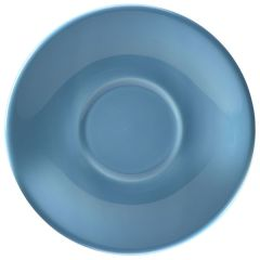 182115BL CASE OF 6 COFFEE CUP SAUCER BLUE