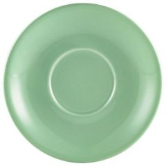 182115GR CASE OF 6 COFFEE CUP SAUCER GREEN