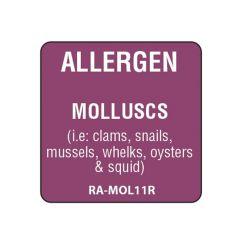 """Molluscs Square Food Allergen Label 1"""""""