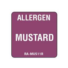 "Mustard Square Food Allergen Label 1"""