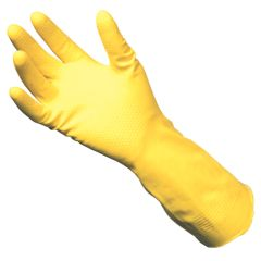 Jangro Yellow Rubber Gloves Size Small