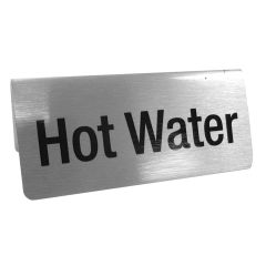 Brushed Silver Hot Water Tent Notice