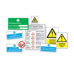 Storage of Chemicals Sign Pack. (12)