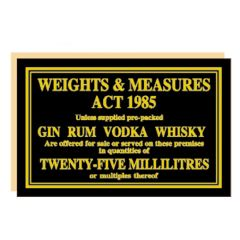 Weights & Measures Act 1985 25ml