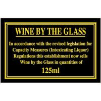 Wine by the Glass 125ml Notice