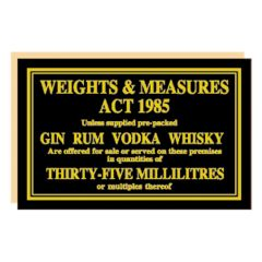 Weights & Measures Act 1985 35ml