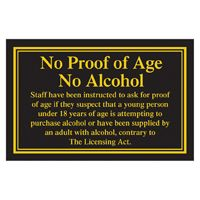Proof of Age Sign
