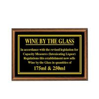 Wine By The Glass 175ml/250ml Sign