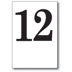 Table Number Cards 11-20