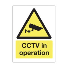 Self Adhesive Exterior CCTV in Operation Sign 200x150mm