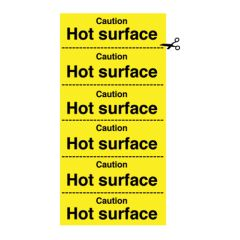Caution Hot Surface Signs.