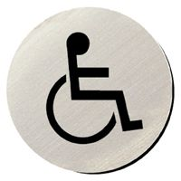 Metallic Door Disc - Disabled Toilets.