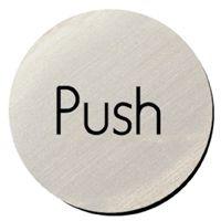 Metallic Door Disc - Push.