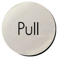 Metallic Door Disc - Pull.