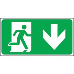 Down Arrow Fire Exit Direction Sign.