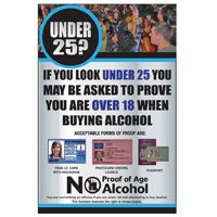 Under 25 Proof Of Age Sign
