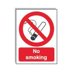 Rigid No Smoking With Symbol Sign 210x150mm