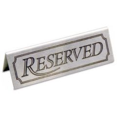 Stainless Steel Reserved Table Notice