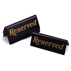 Gold & Black Reserved Table Notice (5)