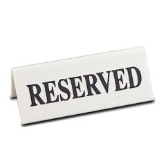 Ivory Range Reserved Table Notice (5)
