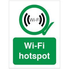 Wi-Fi Hot Spot Sign