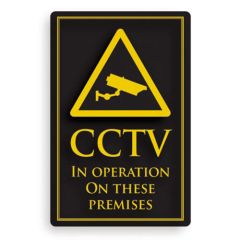 CCTV In Operation On These Premises Sign