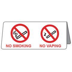 No Smoking No Vaping Tent Sign.