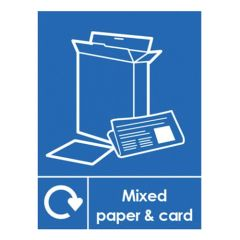Mixed Paper & Card Recycling Sticker