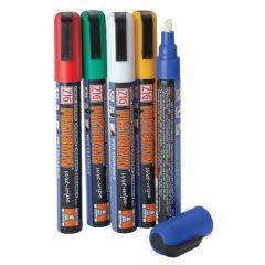 Coloured Wet Wipe Chalkboard Pens (5)
