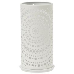 Billy White Metal Candle Holder 140x75mm (4)