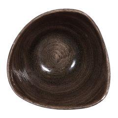 "Stonecast Patina Iron Black Triangle Bowl 6"" (12)"