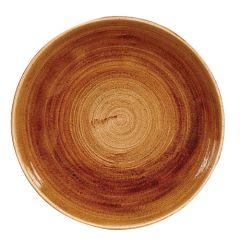 "Stonecast Patina Vintage Copper Coupe Bowl 9.75"" (12)"