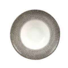 "Churchill Studio Prints Raku Quartz Black Wide Rim Bowl 11"" (12)"